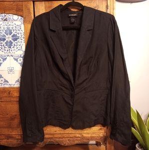 Linen blend blazer size 14